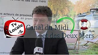 Jean-Jacques BOLZAN président du M.I.N de Toulouse Métropôle s'intéresse à l'Avenir du #CanalDuMidi #TvLocale_fr