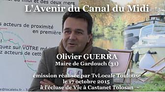 Olivier GUERRA Maire de Gardouch répond aux questions de TvLocale sur l'Avenir du Canal du Midi #CanalDuMidi #TvLocale_fr