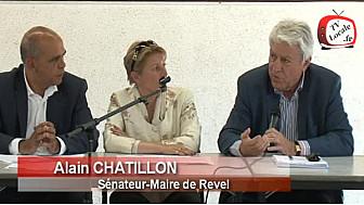 Canal du Midi : Intervention d'Alain CHATILLON au  Comité de Pilotage à Ayguesvives
