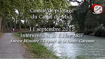 Canal du Midi : Intervention de @kaderarif au  Comité de Pilotage autour de #Toulouseaufildelo à Ayguesvives