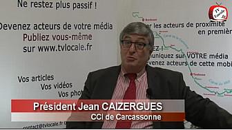 Club d'entreprise Pyrénées-Méditerranée : Interview de Jean CAIZERGUES, Président de la CCI de Carcassonne @CCI_CLC #TvLocale_fr #CanalduMidi