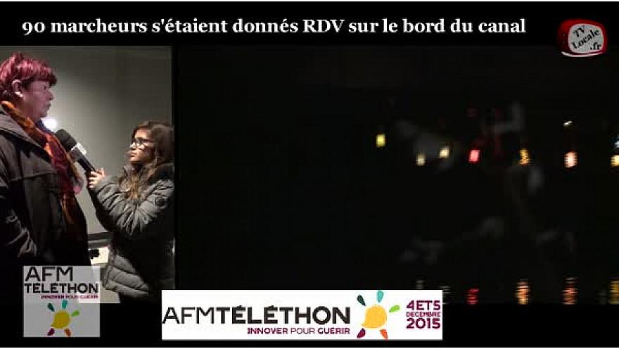 Marche aux lampions à Lacourt-Saint-Pierre (82) pour le Téléthon. Louise et Nicolas Jeunes Reporters à TvPitchounes y étaient #TvLocale_fr